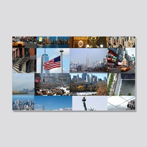 New York Pro Photo Montage-Stunni 20x12 Wall Decal