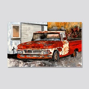old pickup truck antique automobi 20x12 Wall Decal