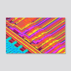 Microchip surface, SEM 20x12 Wall Decal