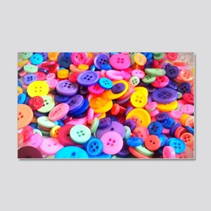 Buttons In Color 20x12 Wall Decal