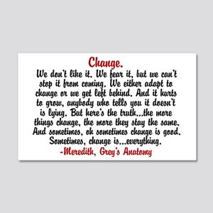 Change Quote Greys 20x12 Wall Decal