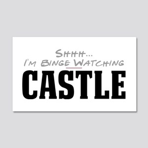 Shhh... I'm Binge Watching Castle 22x14 Wall Peel