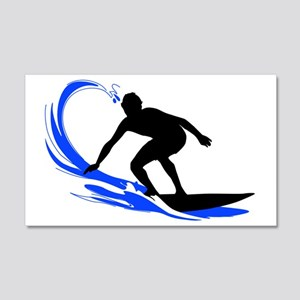 shirt-waves-surfer2 20x12 Wall Decal
