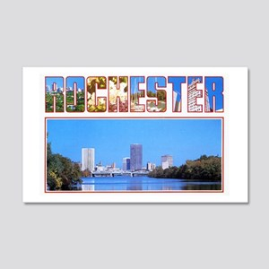 Rochester New York Greetings 20x12 Wall Decal