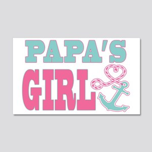 Papas Girl Boat Anchor and Heart 20x12 Wall Decal