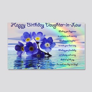 Birthday card for daughter-in-law 20x12 Wall Decal