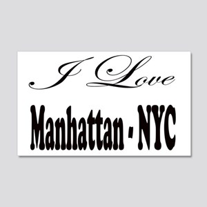 ladies_i_love_manhattan_nyc 20x12 Wall Decal
