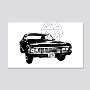 Impala with devils trap 20x12 Wall Decal