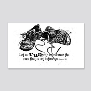 runningshoes 20x12 Wall Decal