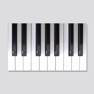 Piano Keyboard 5 20x12 Wall Decal