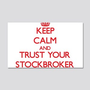 Keep Calm and trust your Stockbroker Wall Decal