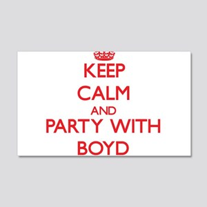 Keep calm and Party with Boyd Wall Decal