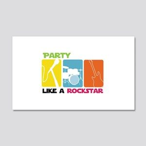 Party Like A Rockstar Wall Decal