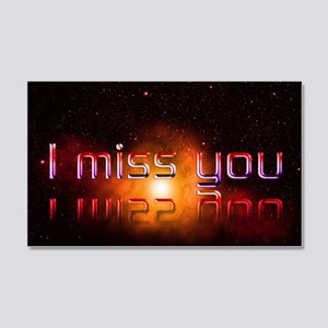 I Miss You 20x12 Wall Decal