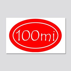 Red 100 mi Oval 20x12 Wall Decal