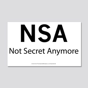 NSA   Not Secret Anymore 20x12 Wall Decal