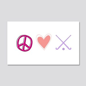 peace love hockey 20x12 Wall Decal