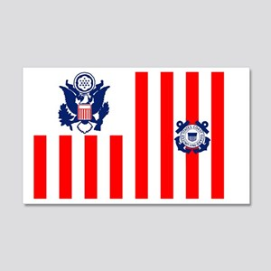 5-USCG-Flag-Ensign-Full-Color 20x12 Wall Decal