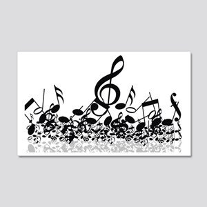 Music Notes 20x12 Wall Decal