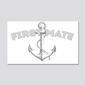 First Mate DARK 20x12 Wall Decal