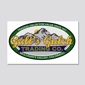 Galts Gulch Trading Co oval logo  20x12 Wall Decal