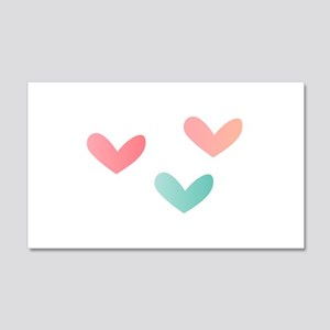 Multicolored Hearts Wall Decal
