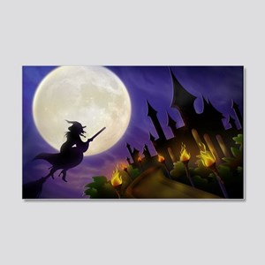 flyingwitchmoon2_miniposter_12x18 20x12 Wall Decal