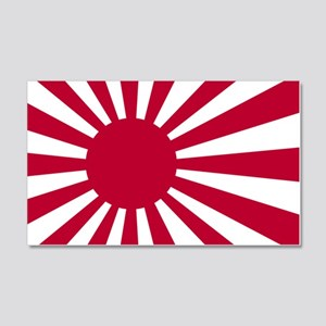 rising sun flag for colored shirt 20x12 Wall Decal