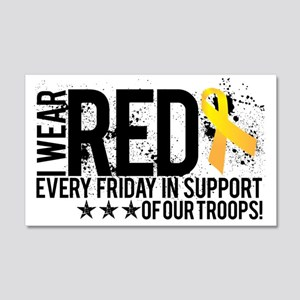 Red4OurTroops 20x12 Wall Decal