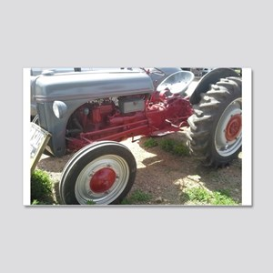 Old Grey Farm Tractor Wall Decal