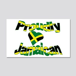 Proudly Jamaican 20x12 Wall Decal