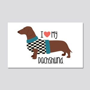 Love My Dachshund Wall Decal