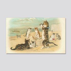 Cats at the Beach 20x12 Wall Decal