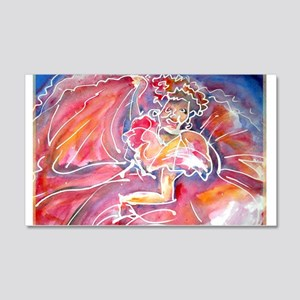 Fiesta, Dancer, fun, 22x14 Wall Peel