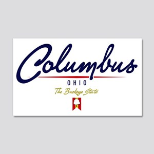 Columbus Script W 20x12 Wall Decal