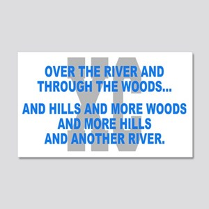 Over the River Cross Country Quot 20x12 Wall Decal