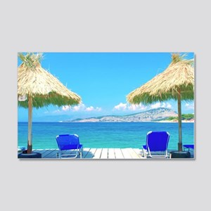 Beautiful Tropical Beach With Dec 20x12 Wall Decal