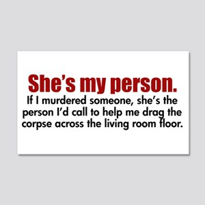 She's My Person 20x12 Wall Decal