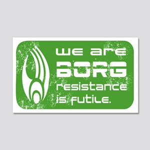 Star Trek - We are BORG green 22x14 Wall Peel