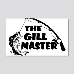 Fisherman As The Gill Master 20x12 Wall Decal