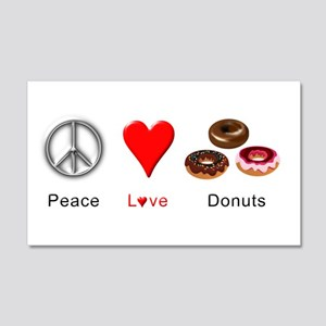 Peace Love Donuts 20x12 Wall Decal
