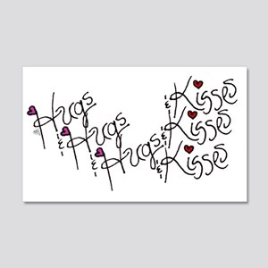 3x the Hugs & 3x the Kisses 20x12 Wall Decal