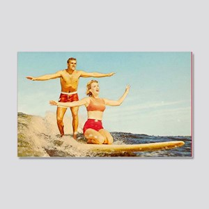 vintage surfers 20x12 Wall Decal