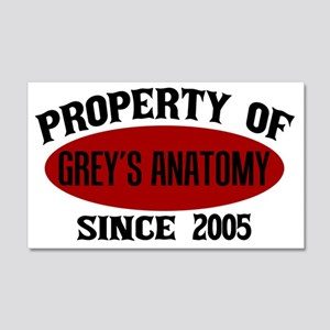 Property of Grey's Anatomy 20x12 Wall Decal