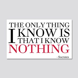 Socrates Knowledge Quote 20x12 Wall Decal