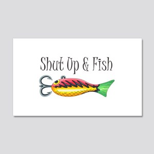 SHUT UP & FISH Wall Decal