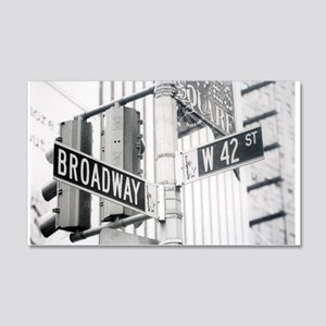 NY Broadway Times Square - 20x12 Wall Decal