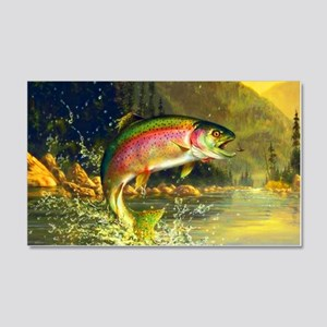 Jumping Rainbow Trout 20x12 Wall Decal