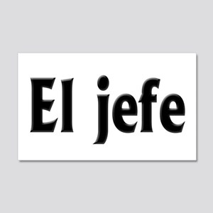 El jefe (The Boss) 20x12 Wall Decal