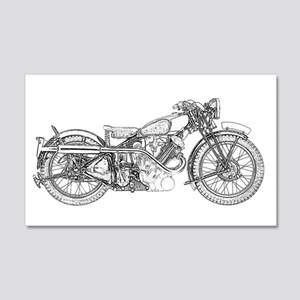 1935 Motorcycle 20x12 Wall Decal